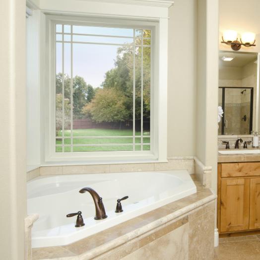 Bathroom picture window